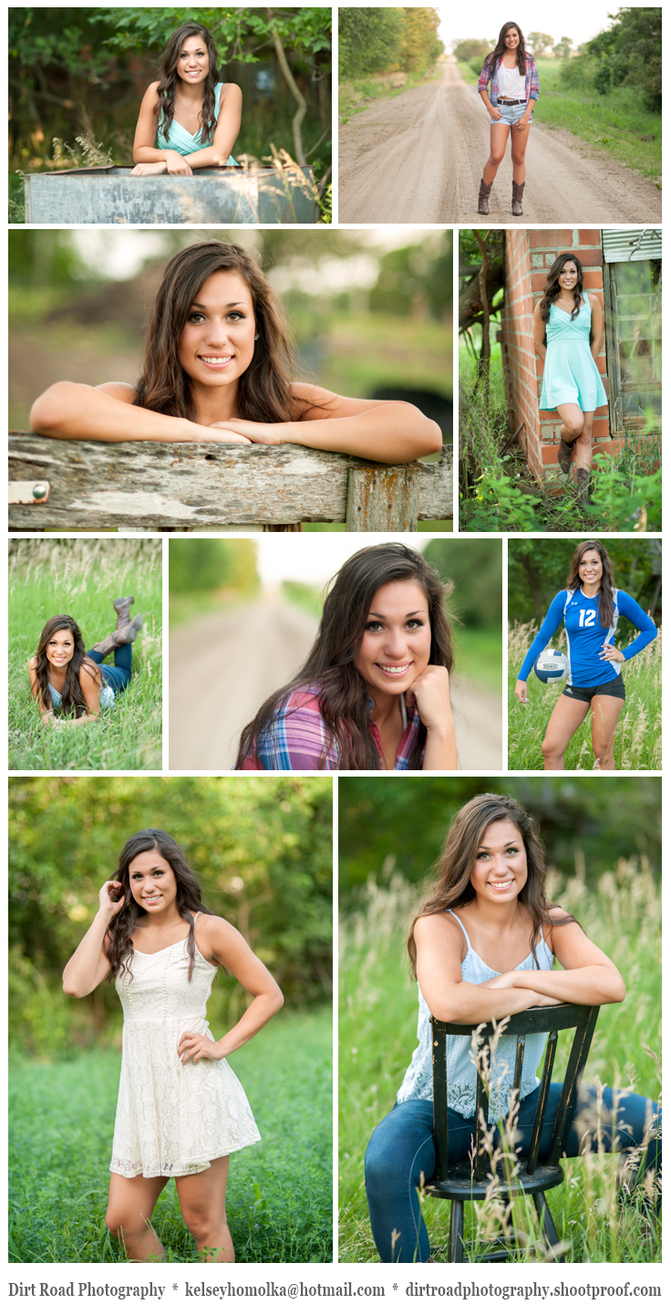 photo of tyra mollhoff norris high school senior from hickman nebraska who did senior photos with dirt road photography with photographer kelsey homolka nerud senior girl pictures with long brown hair sitting in a chair with grass and at sunset