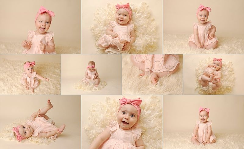 six month old baby pictures dorchester nebraska photographer kelsey homolka nerud