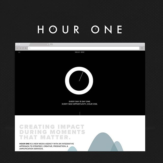 LAUNCH ALERT: A website refresh is now live for @thisishourone, a new media agency creating impact during moments that matter. Go check it out! Link in bio.