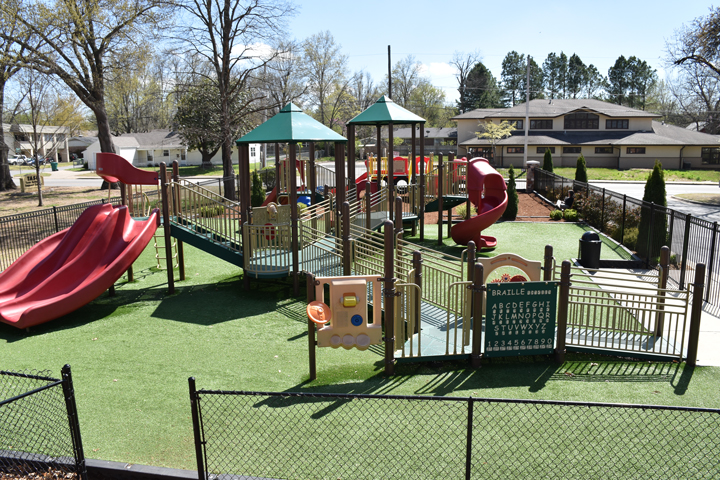 center for nonprofits at St. Mary's in Rogers playground, outdoor playground, nwark, northwest arkansas, ark, springdale