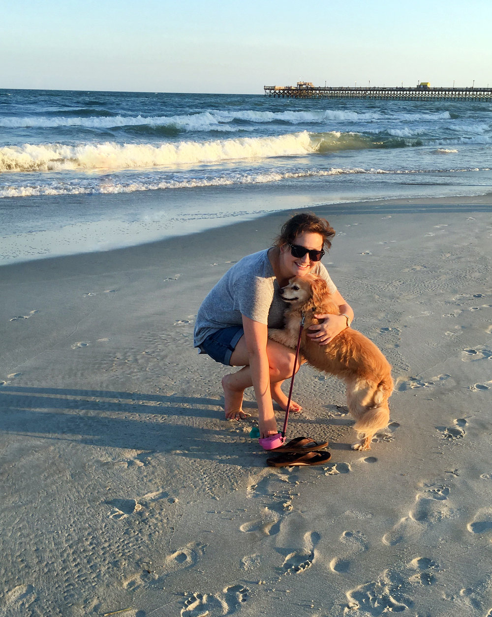With my best friend, Chevy, in my favorite place (excuse the windblown hair!)