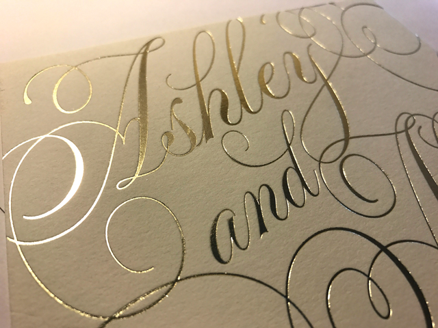 Foil Stamping - Available in matte or metallic finish…I'll explain below.