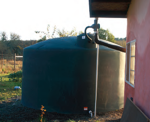 5000 gallon rain tanks can stores months of rainfall for later use.