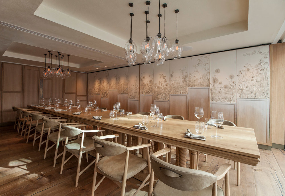 These White Walls' feature private dining rooms, Hide & Seek, at HIDE