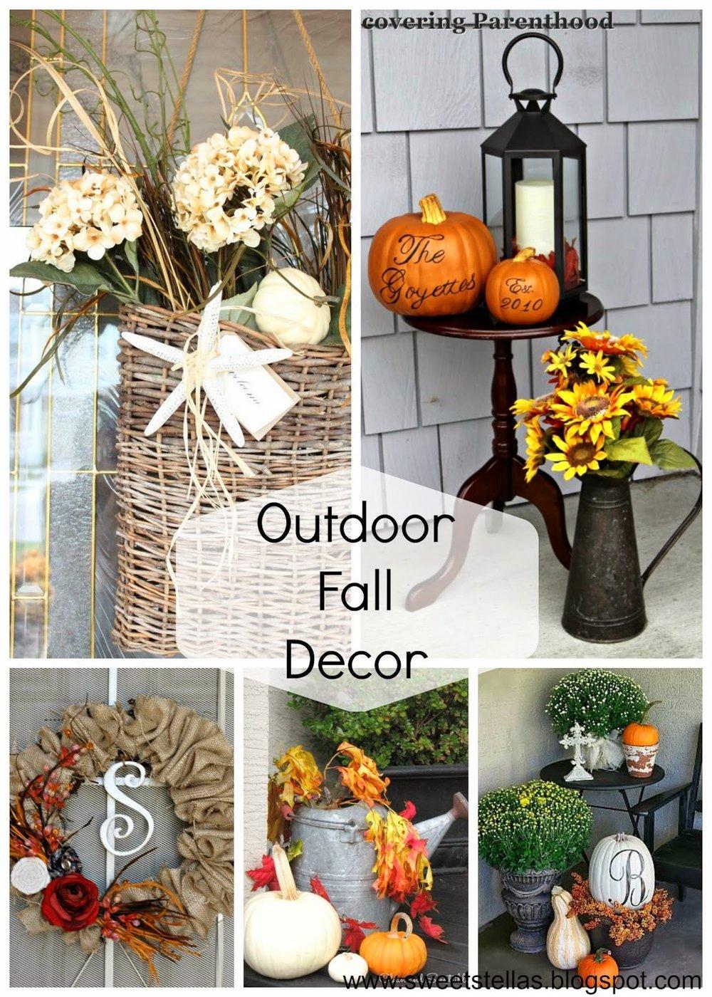 Outdoor Fall Decor Ideas On Pinterest Homedecor Outdoor