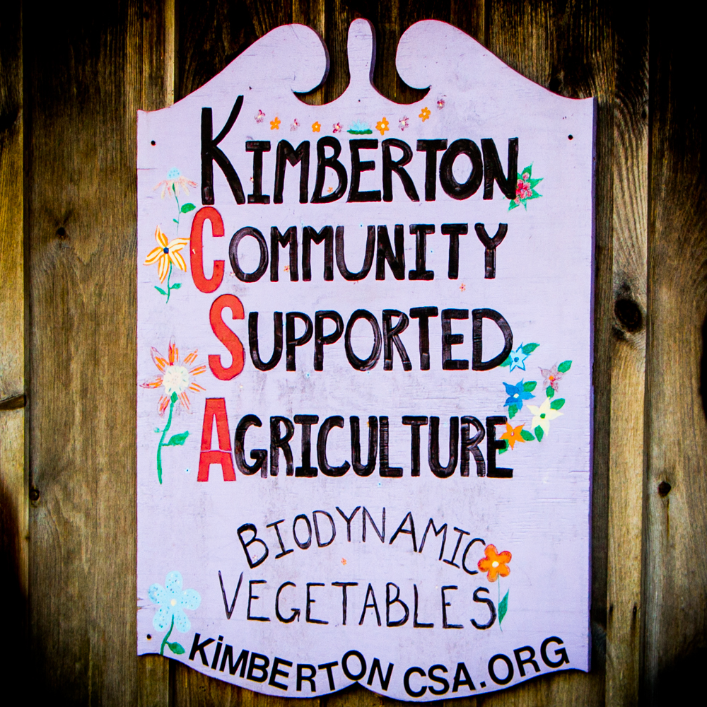 Kimberton CSA Sign