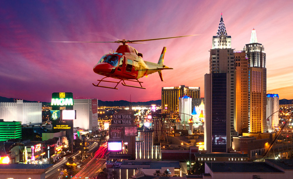 Vegas Strip Helicopter Tour - Witness for yourself the incredible lights of the Las Vegas Strip