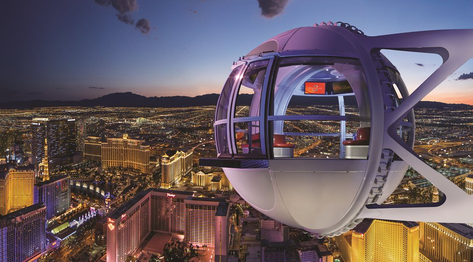 High Roller: Night - a 360-degree look at sprawling downtown Vegas and beyond