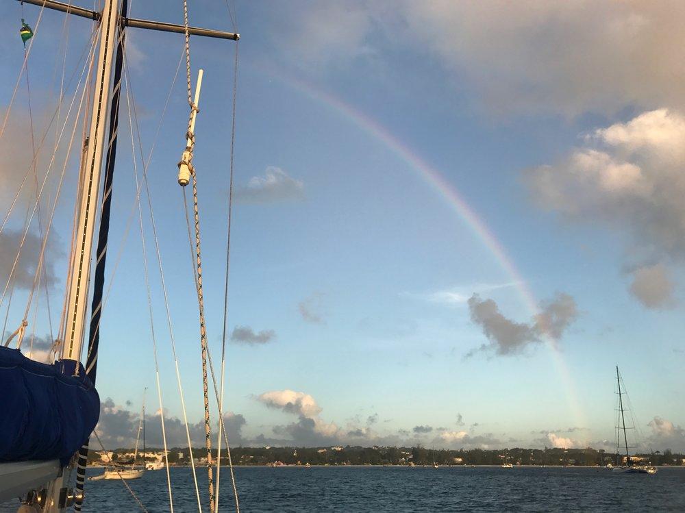 Rainbow views from Alaussa.