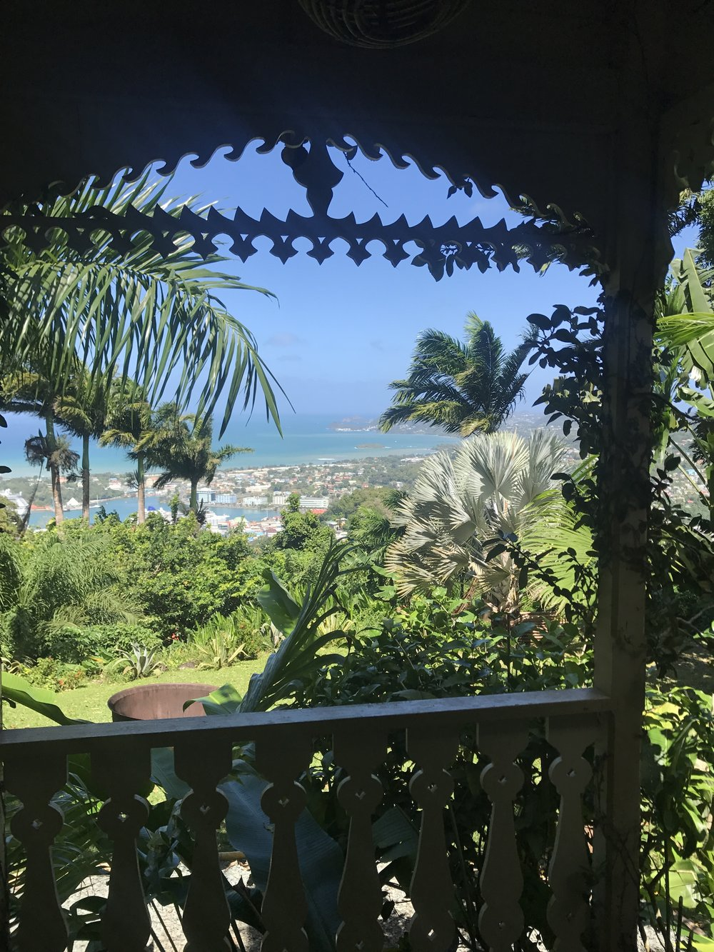 View from Pink Plantation House, St. Lucia