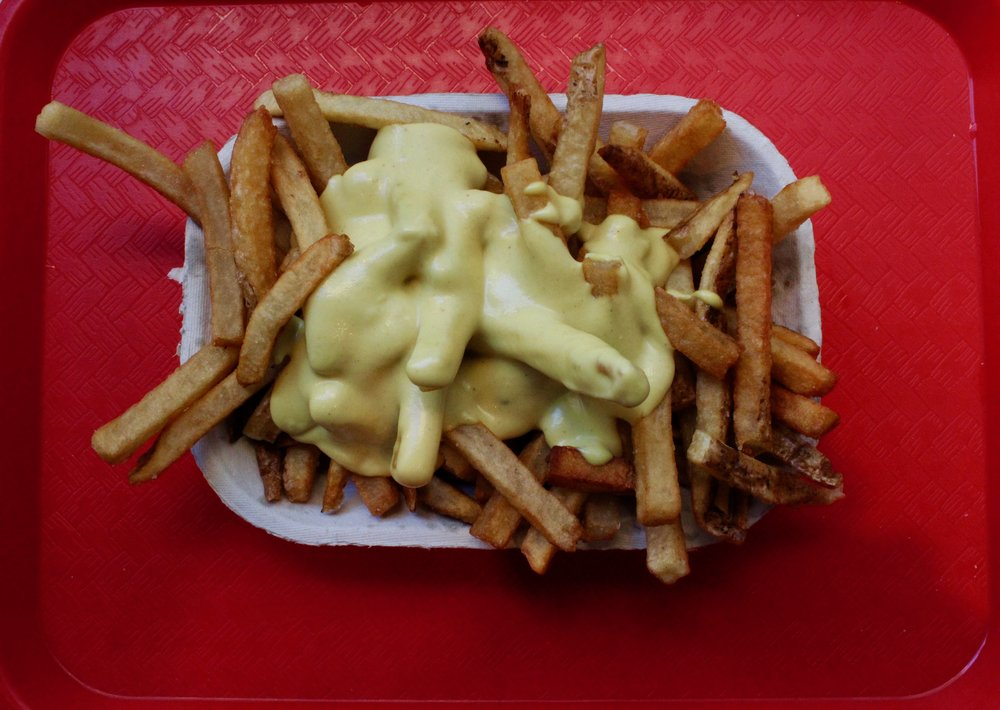 Wiz fries: Highly reccomend! This is the best vegan cheese sauce I have ever tried.