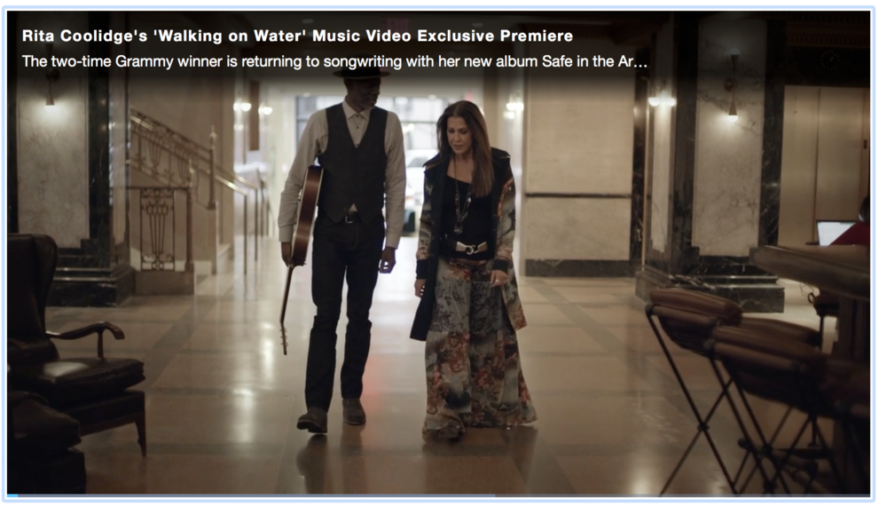 "The world premiere of Rita's music video of ""Walking on Water"" featuring Keb Mo from her upcoming record ""Safe in the Arms of Time"" due out May 4th.  -"
