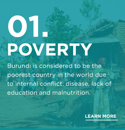 Our New initiative is addressing the lack of clean water in Burundi, that creates health issues, in turn prohibiting work and school.