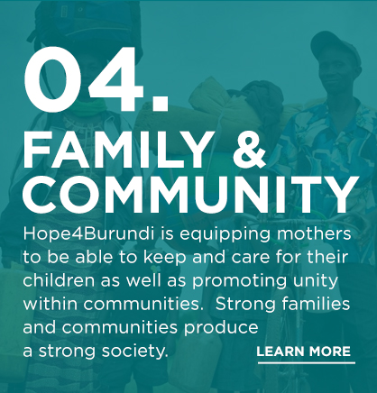 The family structure is stronger than famine and tyranny. We work to strengthen community environments that give life and hope.