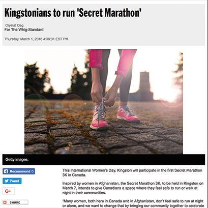 KINGSTON WHIG STANDARD ARTICLE