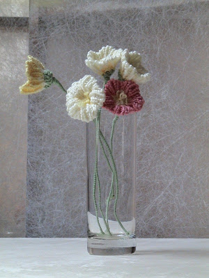Knitted Flowers, 2012 | Wool/Acrylic Blend, Wire