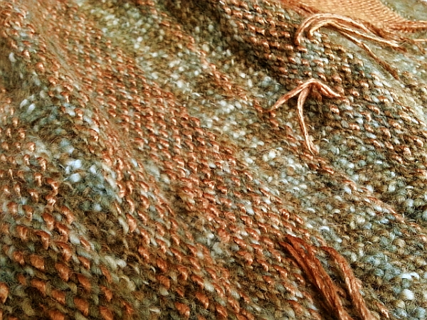 Field, 2014 | Poncho Detail | Wool, Silk