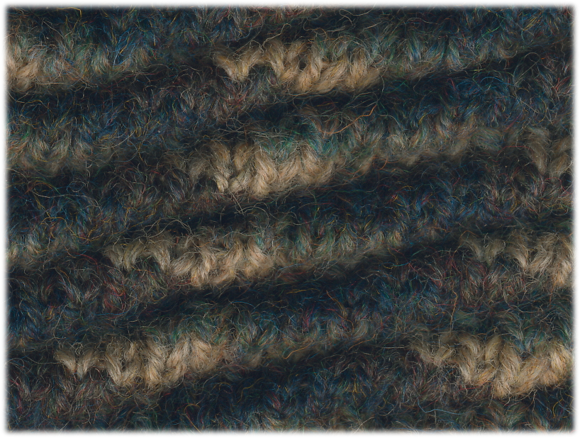 Four-Color Rippled Jacquard | 100% Wool