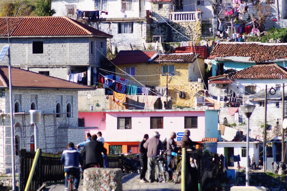 Shanties in Schkoder, Albania.  Albanians hoping they may soon enter the European Union will have to be patient.