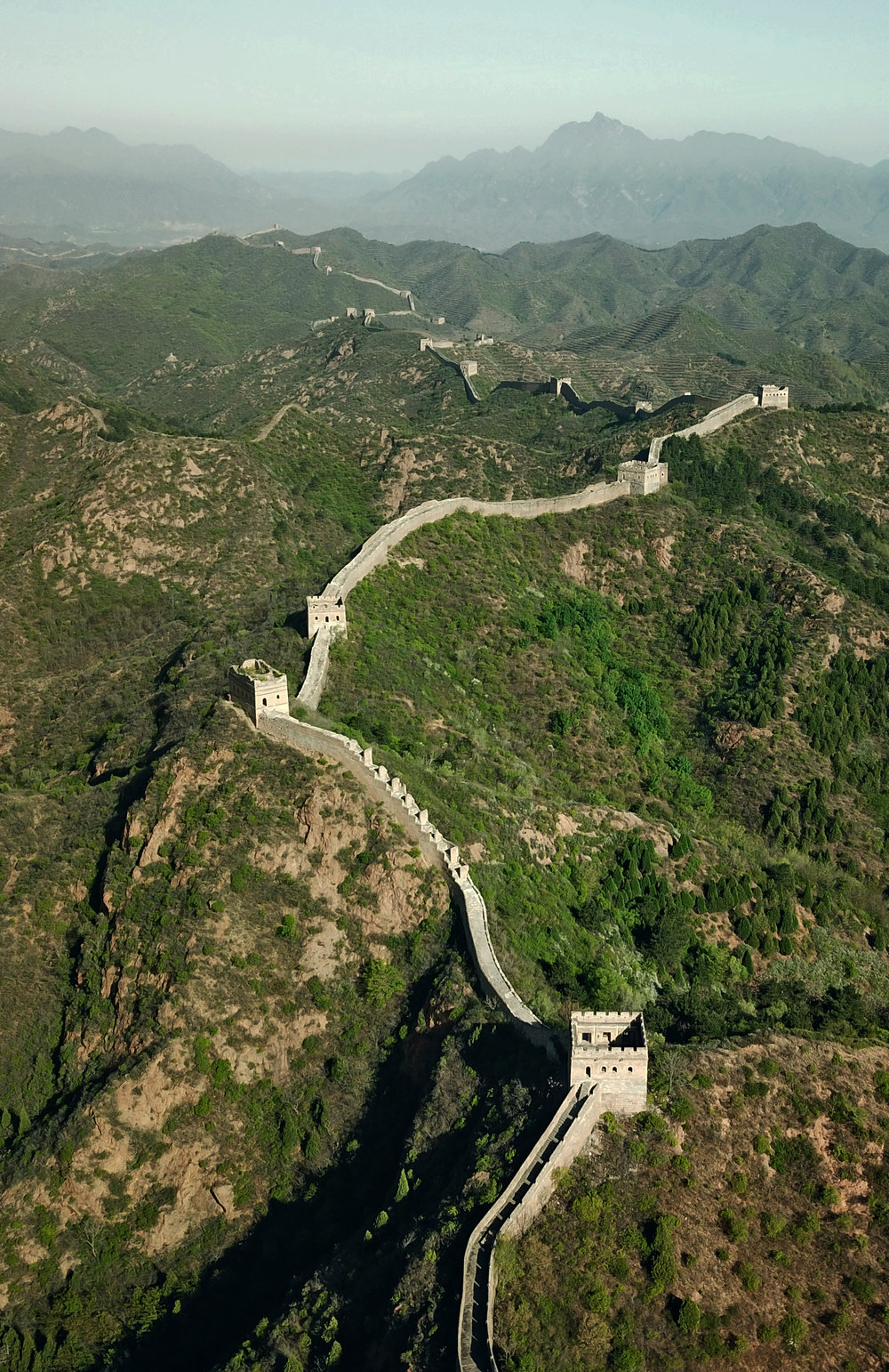 The Great Wall, Jingshanling. From 500ft.