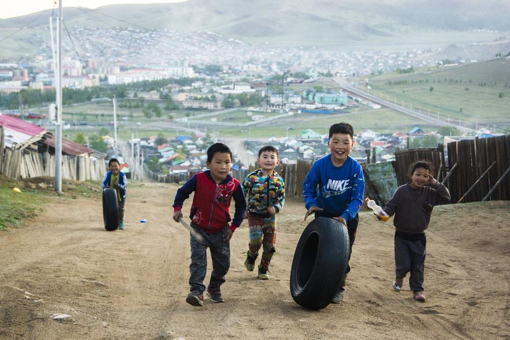 Kids of Tsetserleg, Arkhangai, Mongolia.