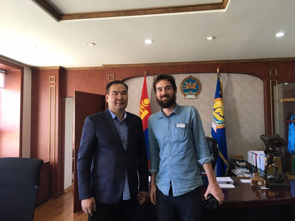With the Governor of Arkhangai Province, Mongolia.