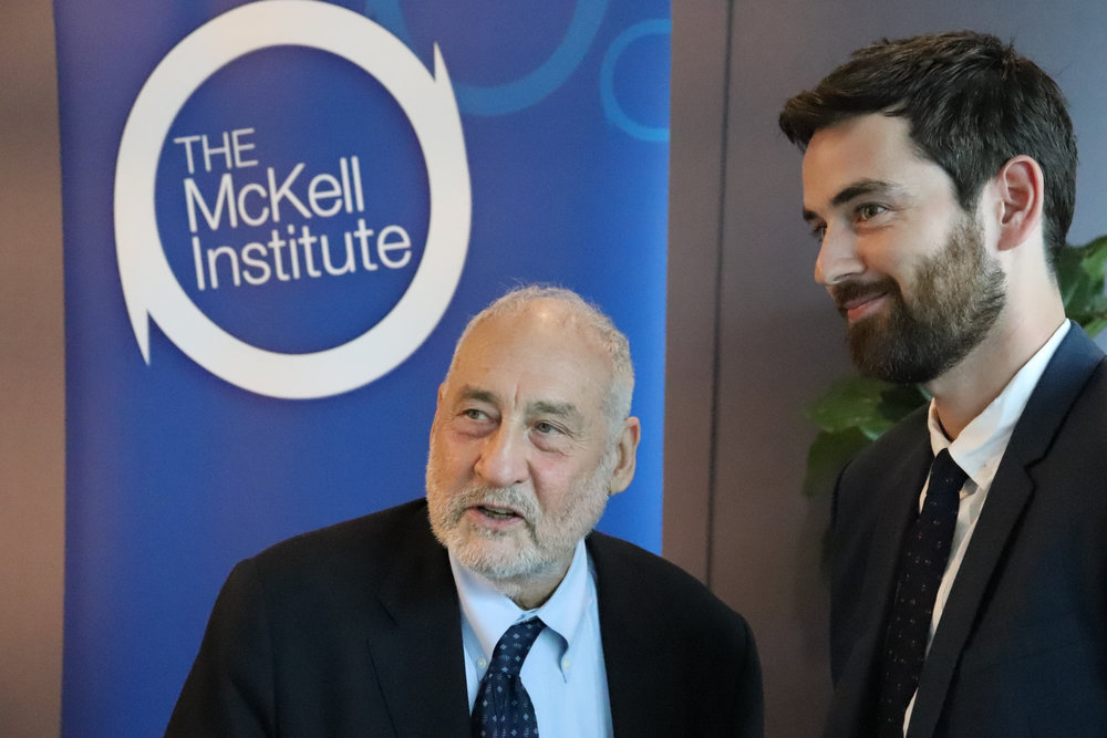 With Professor Joseph Stiglitz