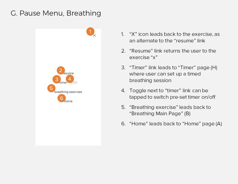 Annotations 6: G. Pause Menu, Breathing