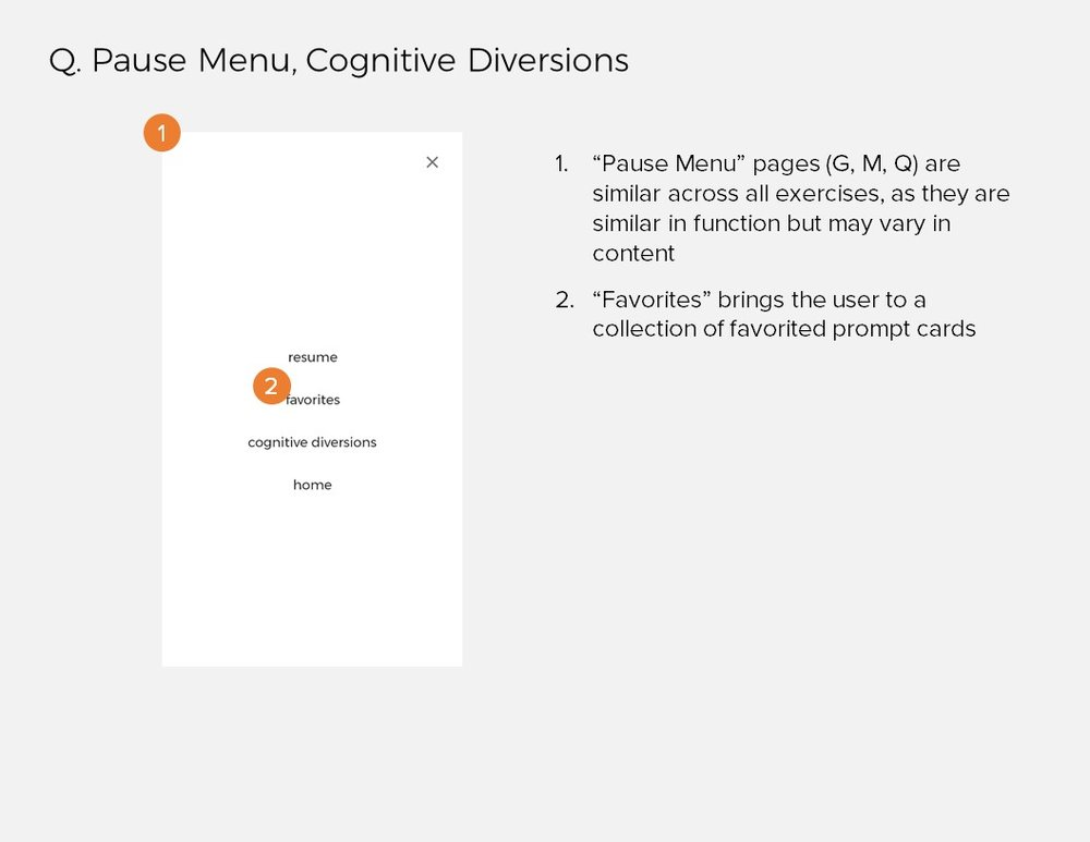 Annotations 15: Q. Pause Menu, Cognitive Diversions