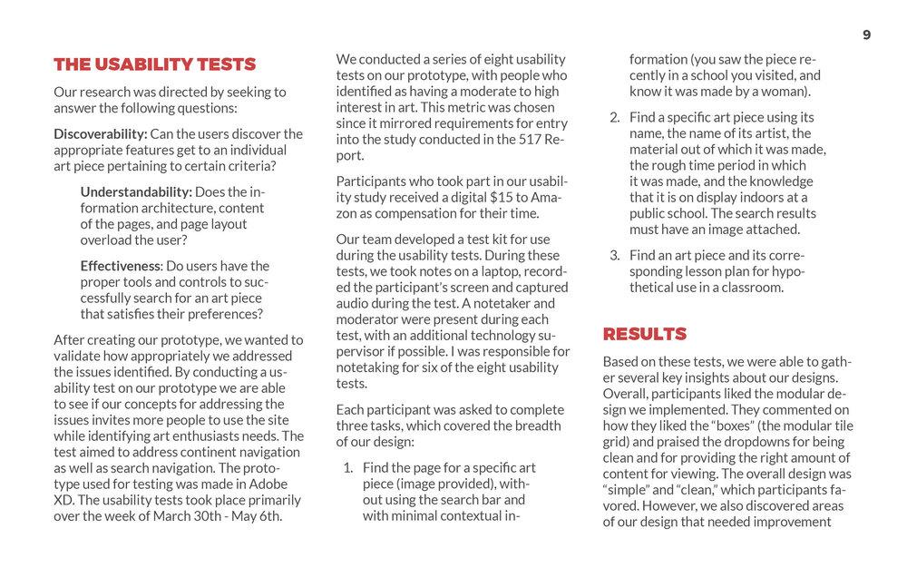 ArtsWA My Public Art Portal Process Book Evaluation Page 2