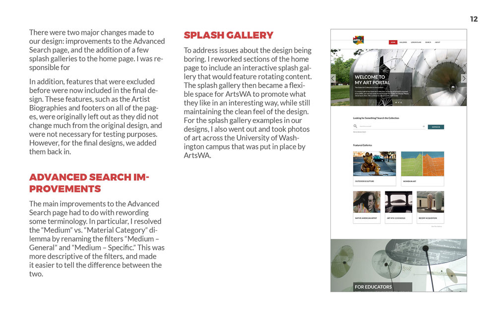 ArtsWA My Public Art Portal Process Book Refinement Page 2