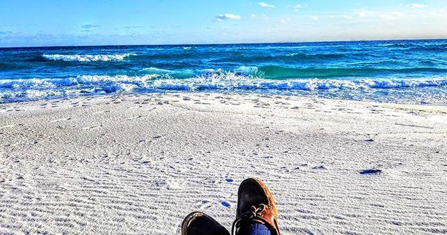 Be content wherever you are. #ocean #navarrebeach #sand #sky #happy @navarrebeach