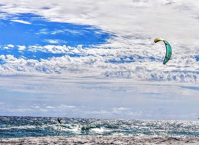 Freedom. Harnessing nature and wind to propel you forward. #freedom #ocean #nature #sky #clouds #navarre #navarrebeach #summer #sun #explore #travel #windsailing #florida #alone #reflection #artist