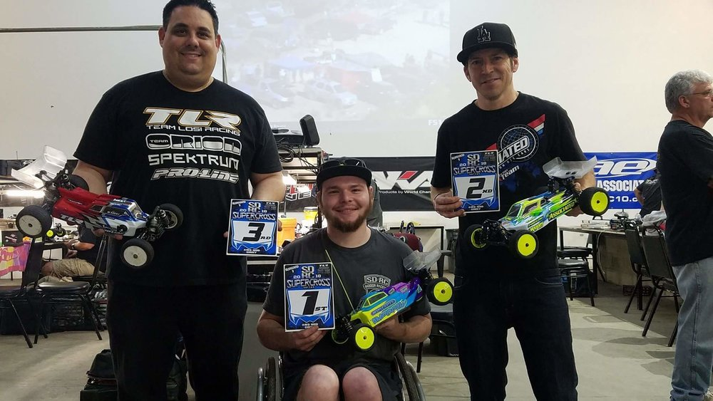 1st Place 4wd mod buggy SDRC Supercross Round 1 Jan 13, 2018