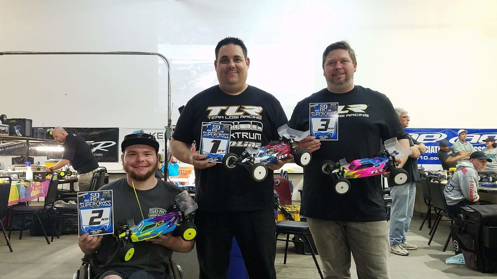 2nd Place 2wd mod buggy SDRC Supercross Round 1 Jan 13, 2018