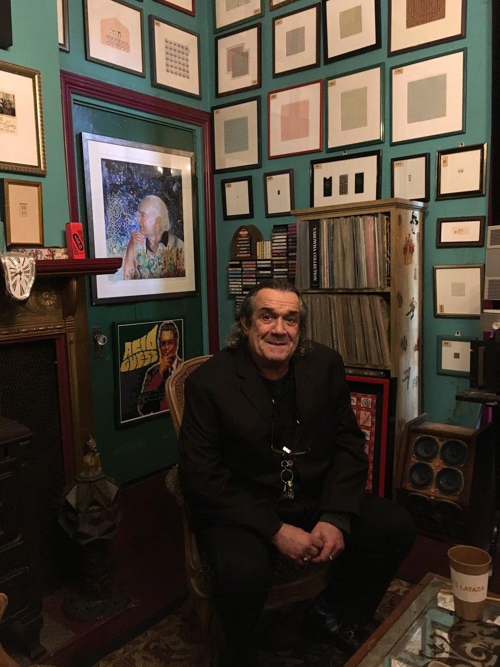 Mark McCloud in his LSD Museum