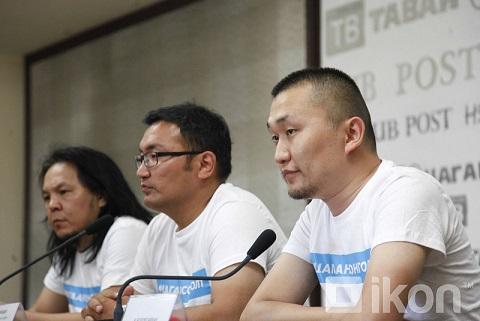 Mongolia White Ballot Campaign Press Conference