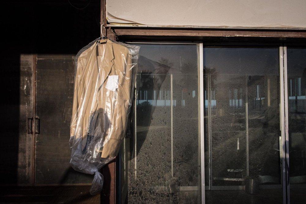 Preparing for shooting 'Tripoli Cancelled', 2017. Photo: Dimitris Parthimos
