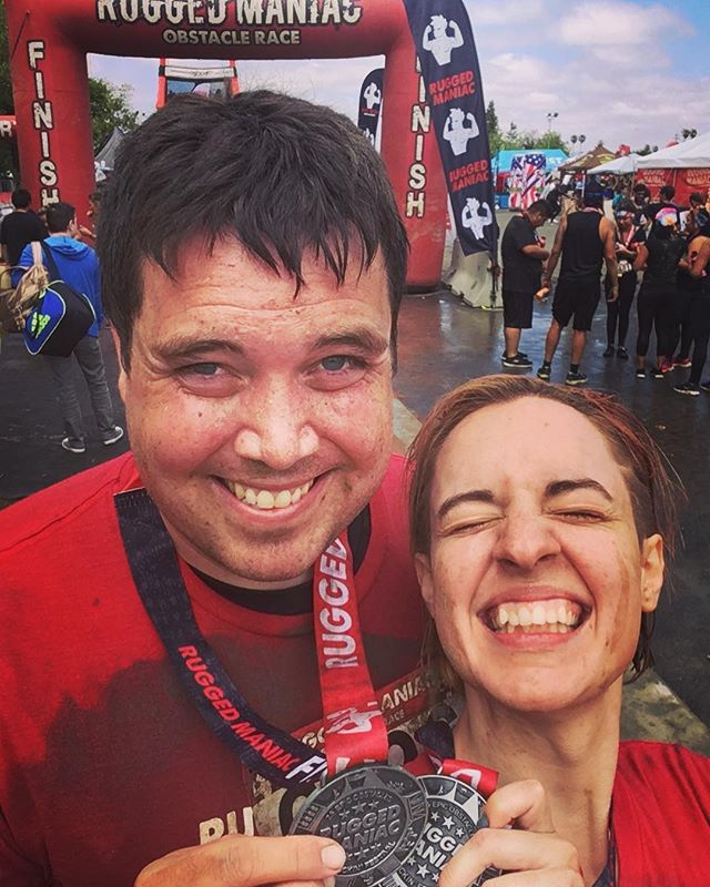 We did it! And got very muddy! #ruggedmaniac