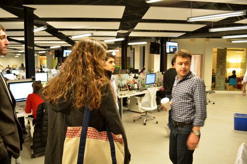 Another mentor, Jon Carpenter, giving me a tour of LivingSocial