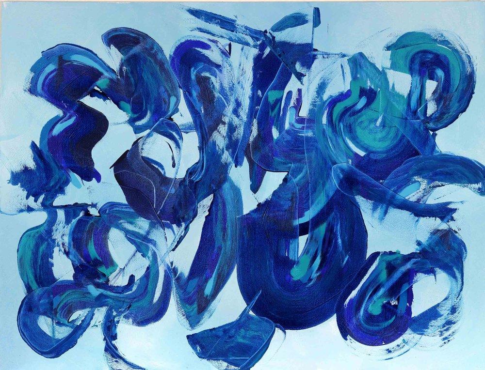 """Blue Lagoon 36""""H x 48""""W"""