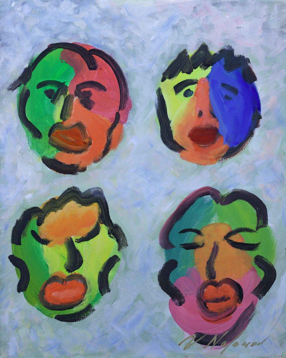 "Faces #3 20""H x 16""W"