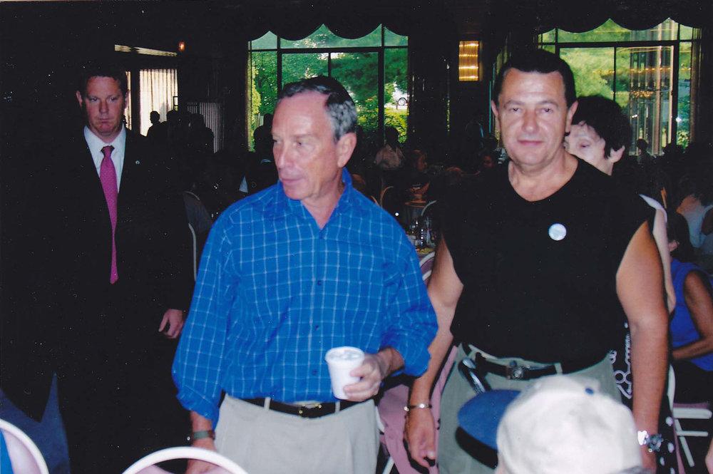 Mayor Michael Bloomberg and Vladimir Nazarov