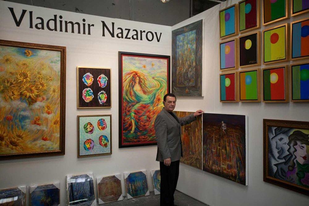 Vladimir Nazarov Exhibition Art Expo New York 2014