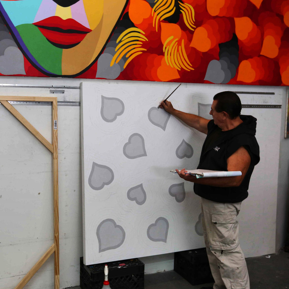 Vladimir Nazarov Painting In Studio