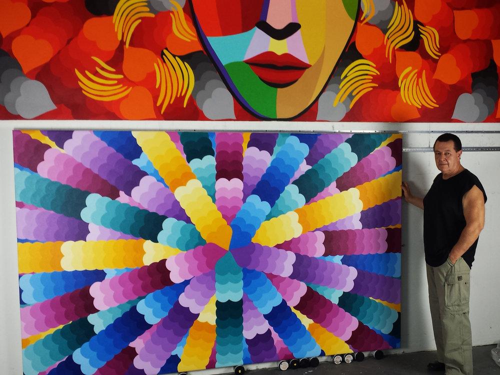 Vladimir Nazarov with Heart Series Painting