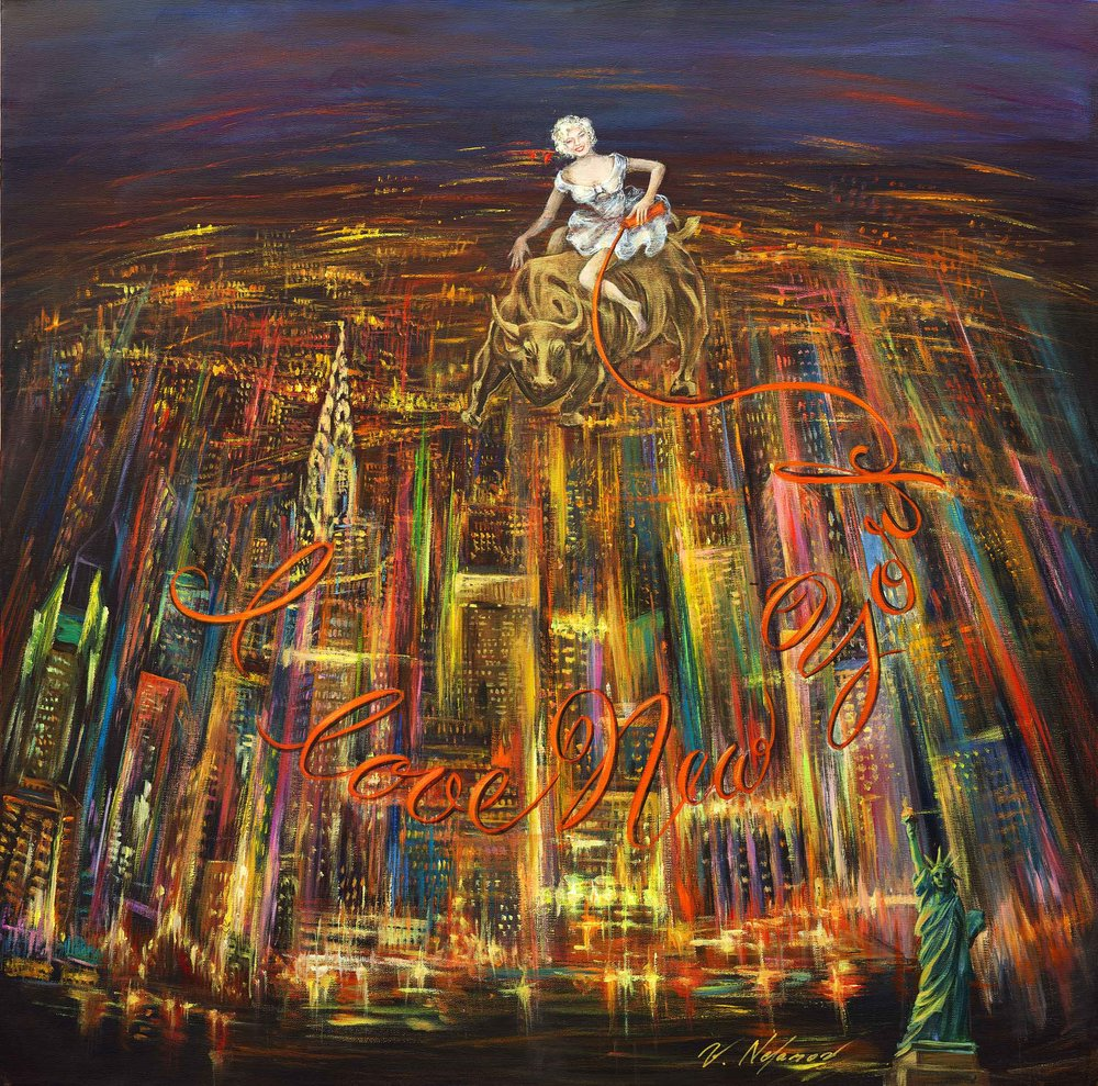 "Bright Lights 36""H x 36""W"