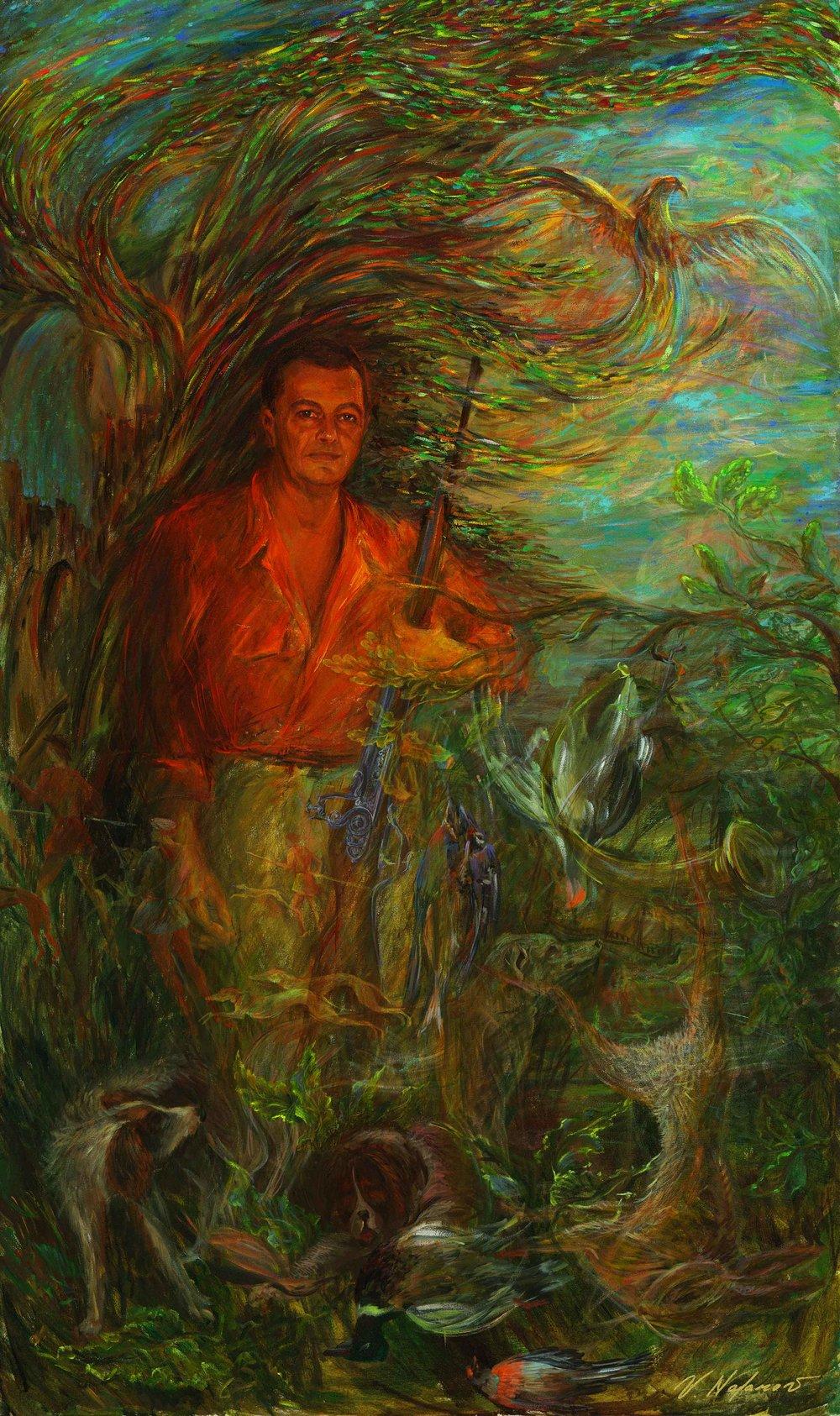 "Vladimir Nazarov Self Portrait 60""H x 36""W"