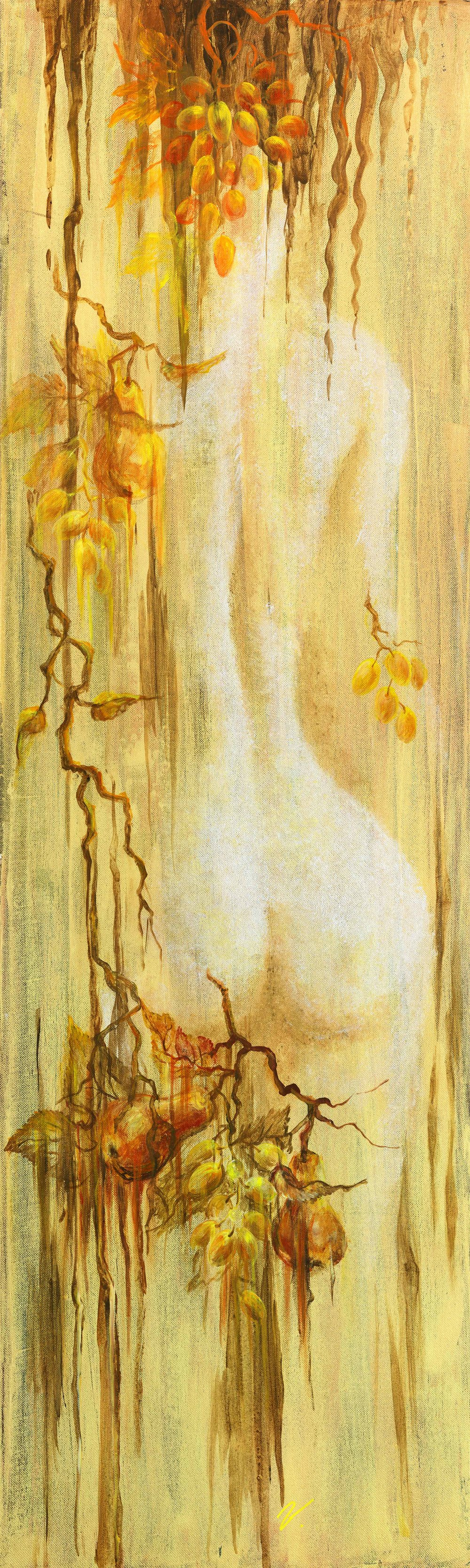 "Gold Dreams (2) 48""H x 16""W"