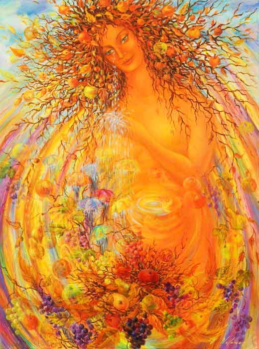 "Harvest Goddess 48""H x 48""W"